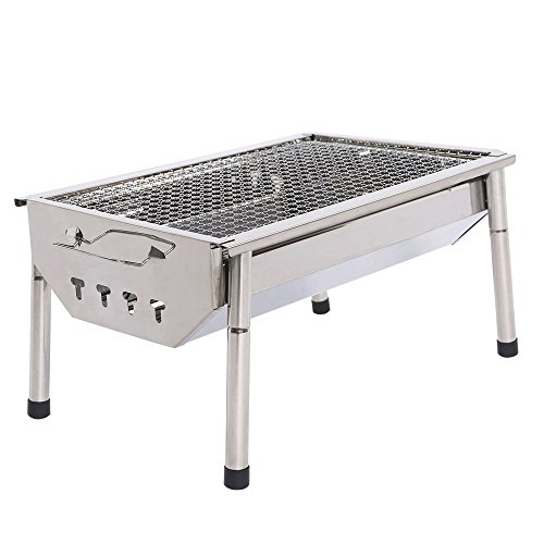 Portable grill thickened outdoor stainless steel charcoal