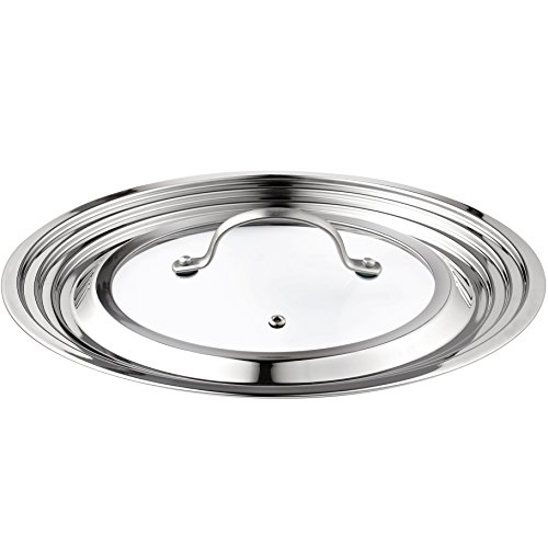 Cook N Home Stainless Steel With Glass Center Universal