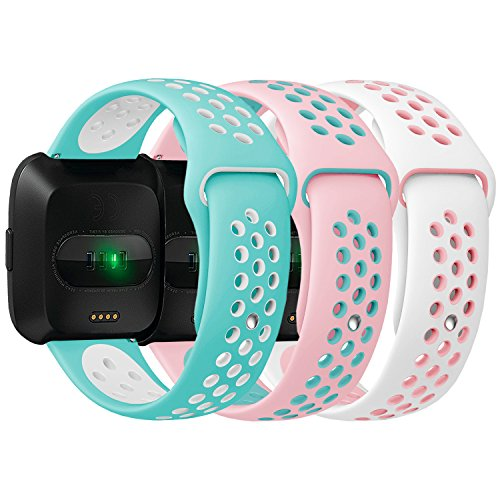 Antemart for Fitbit Versa Bands, Replacement Silicone Sport