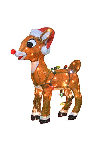 Rudolph Christmas Special.Productworks 32 Inch 3d Pre Lit Rudolph The Red Nosed