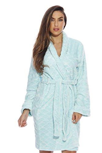 b0ea4850420 Just Love Kimono Robe Velour Scalloped Texture Bath Robes for Women