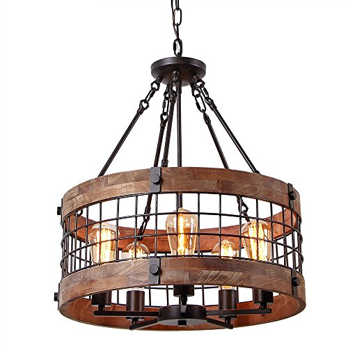 LNC A02983 Adjustable Mason Jar Kitchen Island Lighting